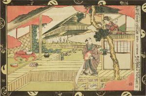 国直/新板浮絵忠臣蔵 七段目之図のサムネール