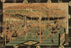 国直/新板浮絵忠臣蔵 夜討図のサムネール
