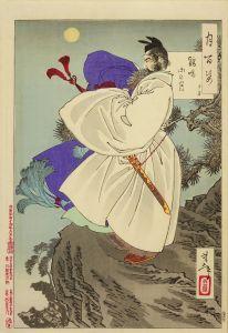 芳年/月百姿 鶏鳴山の月 子房のサムネール