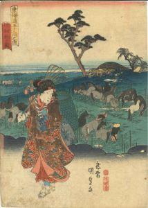 国貞/東海道五十三次之内 池鯉鮒ノ図のサムネール