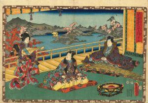 豊国三代/其姿紫の写絵 45 橋姫のサムネール