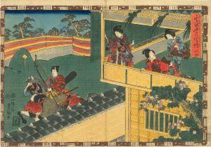 豊国三代/其姿紫の写絵 34 若菜上のサムネール