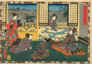 豊国三代/其姿紫の写絵 32 梅枝のサムネール