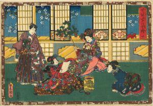 豊国三代/其姿紫の写絵 31 真木柱のサムネール