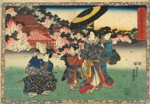 豊国三代/其姿紫の写絵 27 篝火のサムネール