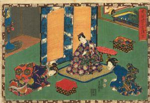 豊国三代/其姿紫の写絵 21 乙女のサムネール