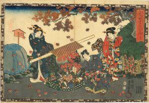 豊国三代/其姿紫の写絵 16 関屋のサムネール