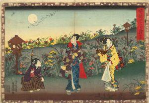 豊国三代/其姿紫の写絵 15 蓬生のサムネール