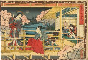 豊国三代/其姿紫の写絵 8 花宴のサムネール