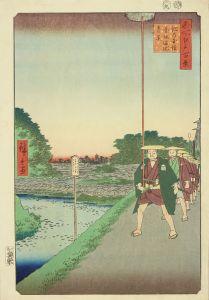 広重/名所江戸百景 紀の国坂 赤坂溜池遠景 初刷のサムネール