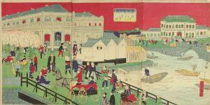 一景/東京芝口橋 ほうらいばし遠景之図のサムネール