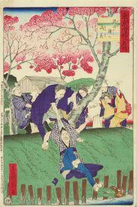 広重三代/東京滑稽名所 隅田堤の満花のサムネール