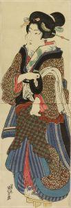 英泉/敷台を持つ美人のサムネール