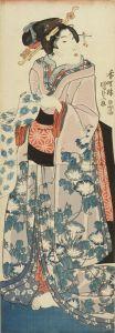 国貞/文読む美人図のサムネール