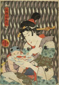 豊国三代/誂織當世島 金花糖のサムネール