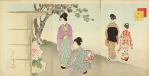 春汀/美人十二ヶ月 其四 牡丹のサムネール