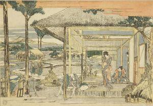 北斎/新板浮絵忠臣蔵六段目のサムネール