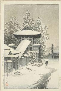 川瀬巴水/高野山鐘楼のサムネール