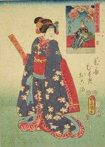 豊国三代/国尽倭名誉 美濃 娘おこま 岩井粂三郎のサムネール
