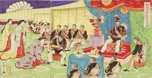 小国政/我征清軍凱旋天盃之図のサムネール