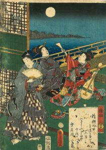 豊国三代/源氏物語 四十五 橋姫のサムネール