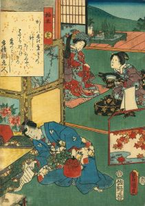 豊国三代/源氏物語 三十六 柏木のサムネール