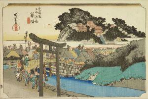 広重/東海道五拾三次之内 藤沢 遊行寺のサムネール