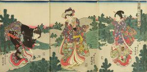 豊国三代/豊歳子日若菜摘ノ図のサムネール