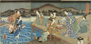 豊国三代/四条河原夕涼ノ図のサムネール