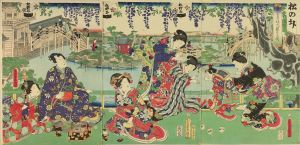 豊国三代/東宰府境内藤見之図のサムネール