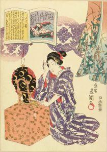 豊国三代/百人一首絵抄 六十 小式部内侍のサムネール