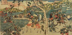 国貞/摂州須磨内裏源平大合戦之図のサムネール