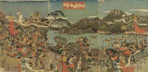 広重/信州川中島合戦図のサムネール