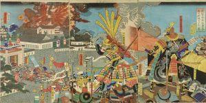 芳虎/武智光年大多春忠の居城をせめる図のサムネール