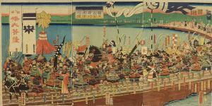 芳虎/八幡太郎義家 大井川船渡陣行之図のサムネール
