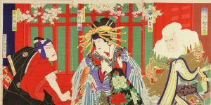 国周/歌舞伎座新狂言江戸桜由縁助六のサムネール