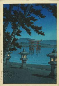 川瀬巴水/宮島乃月夜のサムネール