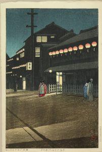 川瀬巴水/大坂宗右衛門町の夕のサムネール
