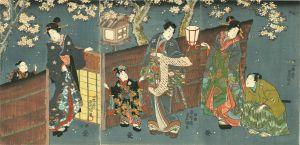豊国三代/源氏夜桜の図のサムネール