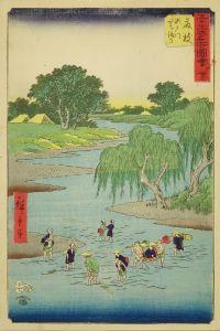 広重/五十三次名所図会 藤枝のサムネール