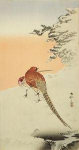 古邨/雪につがいの山鳥のサムネール