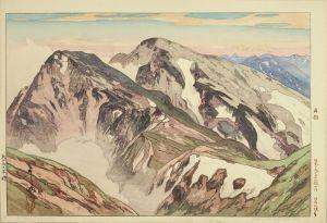 吉田博/日本アルプス十二題の内 白馬山頂より 自摺のサムネール