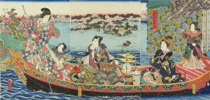 豊国三代/水馴掉春船遊のサムネール