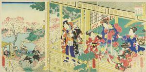 房種/当世げんじの内 弥生の花 隅田の遊覧のサムネール