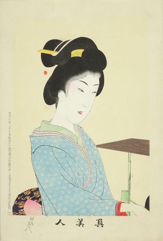 CHIKANOBU <i>Shin bijin</i> (True-beauties), No. 6