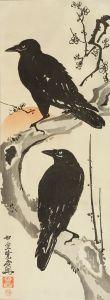 暁斎/梅に烏二羽のサムネール