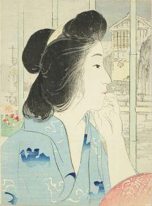 鏑木清方/「いで湯の夕べ」のサムネール