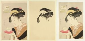 歌麿/浮世絵順序摺木版画 高名美人六家撰 手刷複製木版画 色版12枚とその刷上各1枚と主版と刷上各1枚 計26枚 伝統美術保存会 昭和期のサムネール
