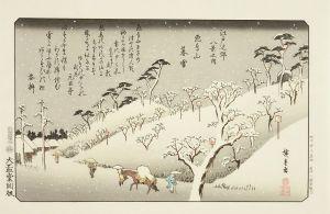 広重/江戸近郊八景 手刷復刻木版画 8枚揃 原寸 日本版画研究所 各台紙付 帙入のサムネール