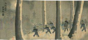 清親/牛荘雪中大激戦之図のサムネール